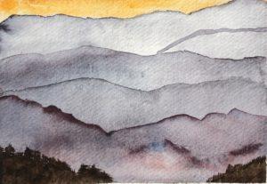 Blue Ridge Mountains - Original Watercolor Painting